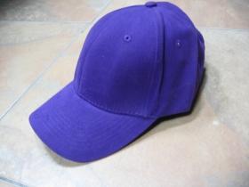 čistá fialová šiltovka bez loga, materiál 100%bavlna, univerzálna nastaviteľná veľkosť vzadu s kovovou sponou na zapínanie