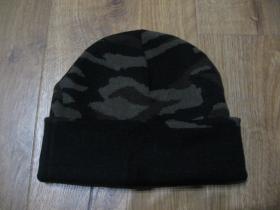 zimná čiapka maskáčová materiál 100% akryl  univerzálna veľkosť