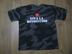 """Viva la Revolucion  nočný """" ruský """" maskáč - Nightcamo SPLINTER, pánske tričko 100%bavlna"""