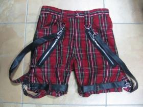 Dámske kárované kraťasy s karabínovými pásmi 100%bavlna S,M,L (požadovanú veľkosť,alebo obvod pásu napíšte na konci objednávky do rubriky KOMENTÁR)