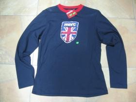 Merc London, pánska tmavomodrá tenká mikina resp.Tričko s dlhým rukávom 100%bavlna posledný kus veľkosť L (bolo vystavené v našej predajni)