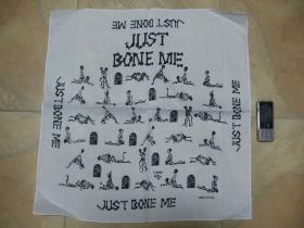 Just Bone Me,  Šatka 100%bavlna, cca.52x52cm