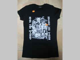 Boycott The Circus,  Dámske čierne tričko 100%bavlna