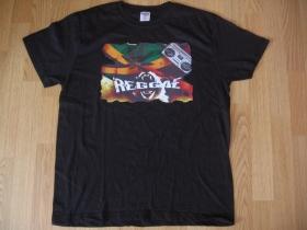 Reggae, čierne pánske tričko