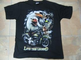 Live The Legend  čierne pánske tričko 100%bavlna