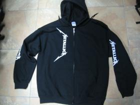 Metallica - Death Magnetic  čierna mikina na zips s kapucou 80%bavlna 20%polyester