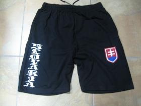 Slovakia čierne teplákové kraťasy s tlačeným logom