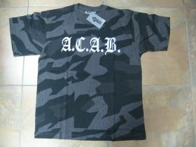 A.C.A.B.  nočný maskáč-Nightcamo SPLINTER, pánske tričko 100%bavlna