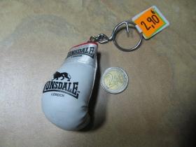 Lonsdale mini boxerská rukavica bieločierna kľúčenka / prívesok