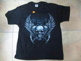 moto smrtka - lebka čierne pánske tričko 100%bavlna