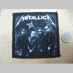 Metallica ofsetová nášivka po krajoch obšívaná cca. 9x9cm