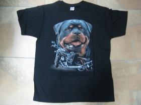 Rottweiler pánske tričko čierne 100%bavlna