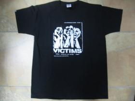 Victims čierne pánske tričko 100 %bavlna