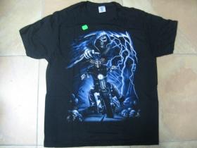 smrtka na motorke čierne pánske tričko 100%bavlna
