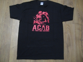 A.C.A.B. čierne pánske tričko materiál 100%bavlna
