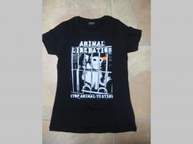 Animal Liberation- Stop Animal Testing, čierne dámske tričko 100%bavlna