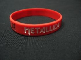 Metallica pružný silikónový náramok s vyrazeným motívom