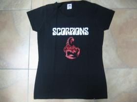 Scorpions čierne dámske tričko 100%bavlna