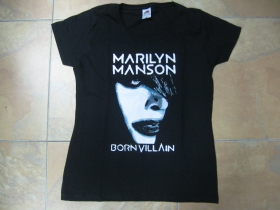 Marilyn Manson čierne dámske tričko 100%bavlna