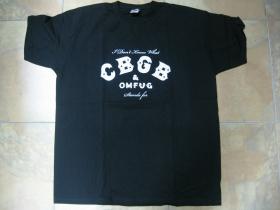 CBGB club legend  čierne pánske tričko 100%bavlna