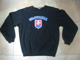 Slovakia čierna mikina bez kapuce