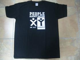 People Against Racism  pánske tričko 100%bavlna Fruit of The Loom