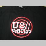 U2 čierne pánske tričko 100% bavlna
