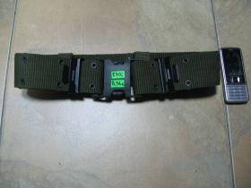 Nylónový opasok typu US s rýchlozapínacím plastovým systémom,olivovo zelený, nastaviteľná dlĺžka, šírka 5,5cm