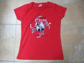 Davová Psychóza  BENZIN MACHT FREI, dámske tričko, červené 100%bavlna