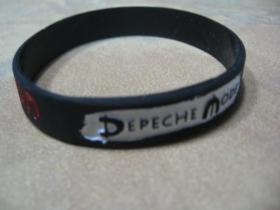 Depeche mode pružný silikónový náramok s vyrazeným motívom