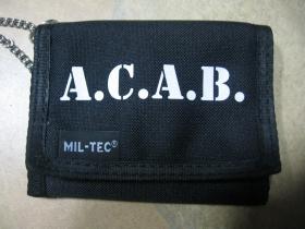 A.C.A.B.  hrubá pevná textilná peňaženka s retiazkou a karabínkou