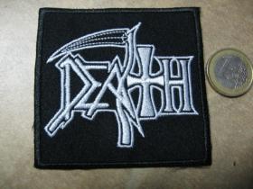 Death nažehľovacia nášivka vyšívaná (možnosť nažehliť alebo našiť na odev)