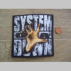 System of a Down ofsetová nášivka po krajoch neobšívaná cca. 9x9cm
