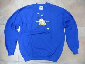 GAME OVER, pánska mikina FRUIT OF THE LOOM s tlačeným logom 80%bavlna 20%polyester, farba ROYAL BLUE posledný kus veľkosť M