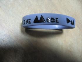 Depeche Mode  pružný gumenný náramok s vyrazeným motívom