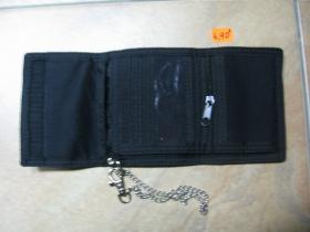 čierna vojenská peňaženka Mil-Tec so zapínaním na suchý zips,  pevná textília