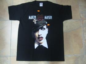 Marilyn Manson čierne pánske tričko 100%bavlna