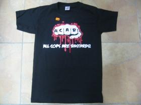 A.C.A.B. čierne pánske tričko 100%bavlna fruit of The Loom
