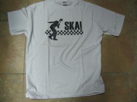 SKA pánske tričko biele 100%bavlna