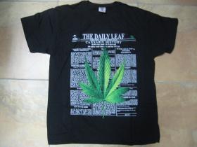 Ganja - Cannabis History pánske tričko čierne 100%bavlna