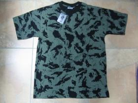 Pánske maskáčové tričko vzor ruský maskáč Taiga farba olivovočierna materiál 100%bavlna