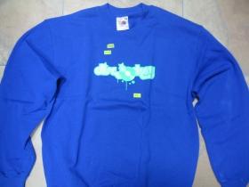 DISC JOCKEY, pánska mikina FRUIT OF THE LOOM s tlačeným logom 80%bavlna 20%polyester, farba ROYAL BLUE posledný kus veľkosť M
