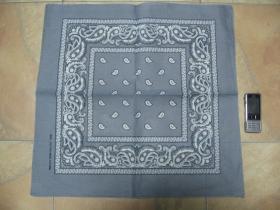 ROCK STAR, šedobiela Šatka 100%bavlna, cca.52x52cm