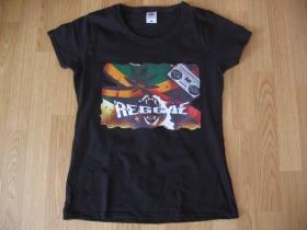 Reggae, čierne dámsske tričko Fruit of The Loom