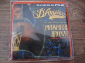 struny na akustickú gitaru  Di Angelico PB-UL Ultra Light,  Phosphor Bronze, Ultra Light hrúbka 010-046