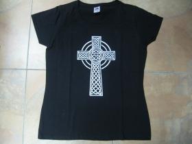 Gotický kríž  dámske tričko Fruit of The Loom 100%bavlna