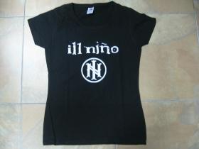 ill Niňo  čierne dámske tričko 100%bavlna