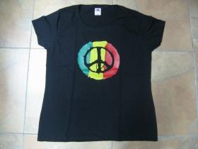 Rasta Peace čierne dámske tričko 100%bavlna