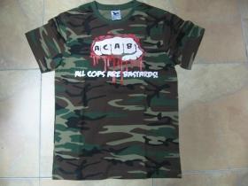 A.C.A.B. päsť maskáčové tričko 100%bavlna