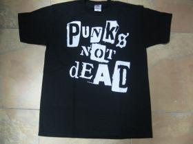 Punks not dead pánske tričko 100%bavlna značka Fruit of The Loom